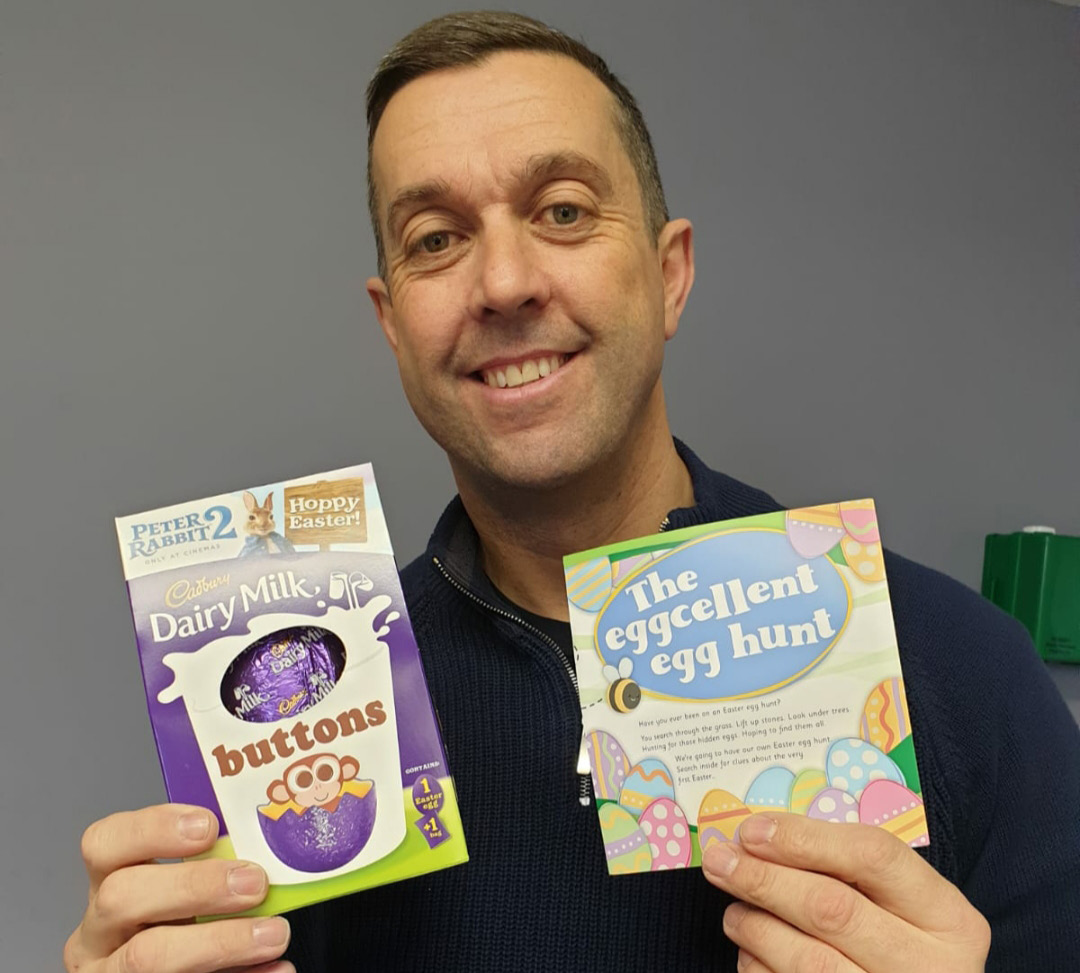 Pastor Ryan Morton has brought some early Easter cheer to youngsters who attend Elim Church in Keynsham