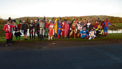 Santas and superheroes on festive cycle ride