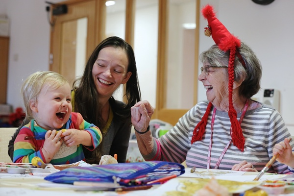 Festive play date with difference fills Keynsham care home with laughter