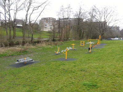 Keynsham's open-air gym ready for action in Memorial Park