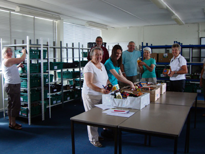Foodbank takes its first delivery as volunteers prepare for launch