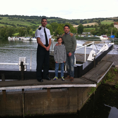 Policeman reunited with boy he rescued from Saltford lock