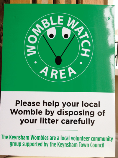 Keynsham's 'Womble Watch' is coming to a street near you!