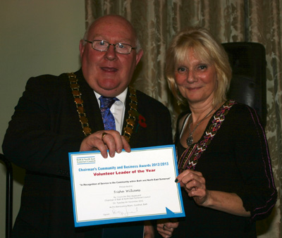 Trisha Williams with Cllr Rob Appleyard