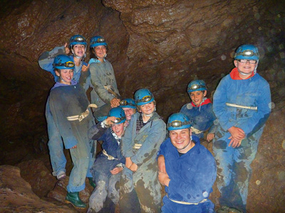 Keynsham Scouts go on an underground adventure