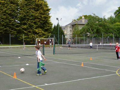 Get fit for free on Keynsham tennis courts