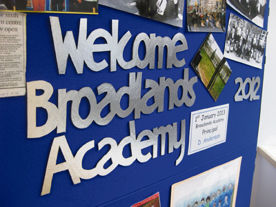Broadlands Academy display