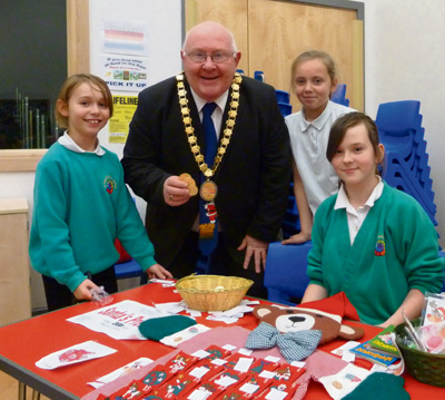 Chairman pays a visit to Keynsham school fair