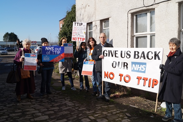 Keynsham NHS campaigners call for action from MP on TTIP