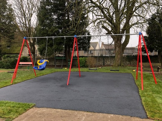 Swings back in action at Memorial Park as Keynsham play area survey gets under way