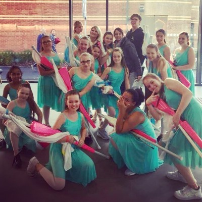 Imperial Winterguard dancers put on a show for national finals