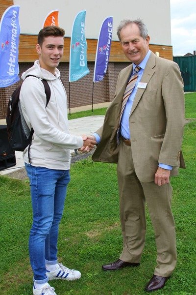 Former Wellsway head John meets sixth-former who helped save his life