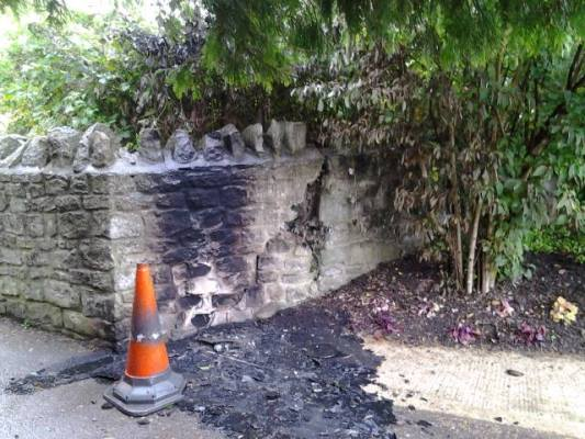 Vandalism and evidence of drug use in Keynsham Memorial Park