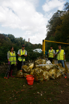 Workers become Wombles for a day to clean up in Keynsham